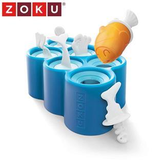 美国Zoku不插电自制冰激凌冷饮可爱角色冰棒模具 可爱小鱼6支装