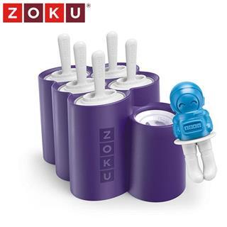 美国Zoku不插电自制冰激凌冷饮可爱角色冰棒模具 太空系列6支装