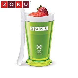 美国Zoku不插电自制冰激凌冷饮冰沙杯奶昔杯250ml 绿色