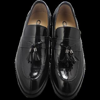艾力沛魔力鞋 男士A款黑色时尚尖头