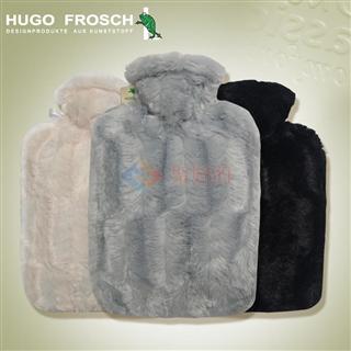 德国原装进口Hugo Frosch 纯色高贵羊绒注水热水袋 1.8L 二色可选