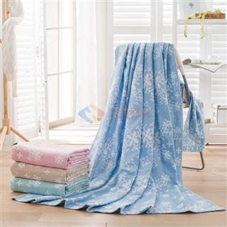 叠丰 Baihuamj全棉纱布提花毛巾被空调盖毯 含蕾访蕊毛巾被