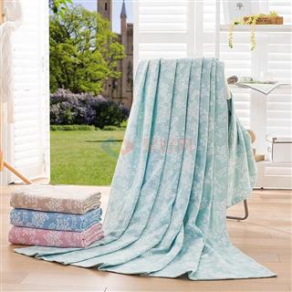 叠丰 Baihuamj全棉纱布提花毛巾被空调盖毯 凝叶语蕊毛巾被