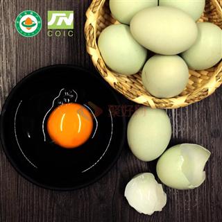 【年货单品】包邮 安徽广德 有机绿壳蛋乌鸡蛋30枚/盒嘴 无激素