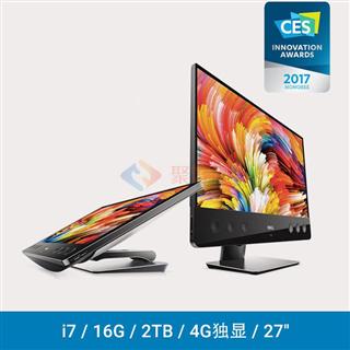 戴尔(DELL)XPS 7760-R1728B 27英寸一体机电脑 (i7-6700 16GB 2TB M470X 4GB独显 UHD4K显示屏 三年上门)