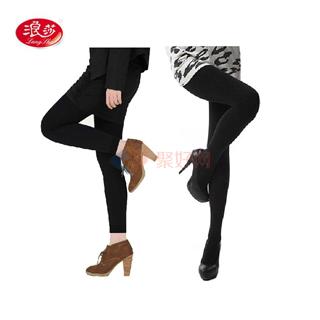 浪莎 1200D时尚迷你绒加档保暖连裤袜/九分裤袜 单条装