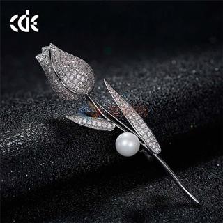 CDE/西黛尔浪漫玫瑰花时尚水晶胸针X0307