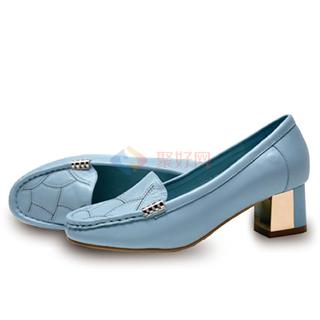 【断码促销】原价2980 秒杀价698元 艾力沛魔力鞋 女士G款蓝色/白色)-中粗跟8222-2