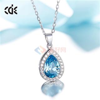 CDE/西黛尔采用施华洛世奇元素925银简约时尚气质女项链
