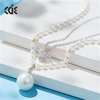 CDE/西黛尔 时尚珍珠甜美毛衣链简约项链