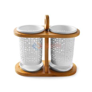 ABS(爱彼此)Zora雅竹系列陶瓷沥水筷笼