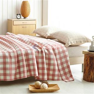 叠丰 Baihuamj纯棉毛巾被水洗纱布盖毯透气环保 冷之巧格/映波尔曼
