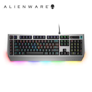 外星人 Alienware  AW768 机械/茶轴游戏键盘(AlienFX灯效 全键无冲 15个宏按键)黑银