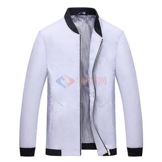 18年春夏新款中青年男士纯色立领时尚修身爆款外套夹克