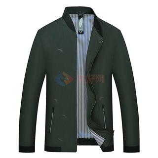 春季新款中青年男士时尚修身纯色休闲夹克外套厂家直销