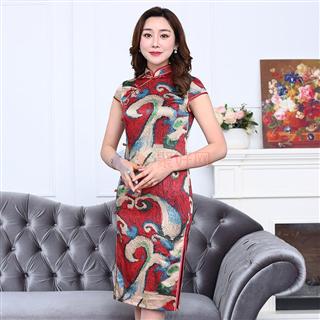 2018夏季新款女款丝质修身显瘦气质爆款中国风女士半边扣旗袍