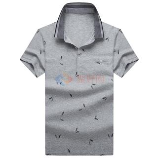 18年春夏新款男士全棉商务修身时尚短袖体恤