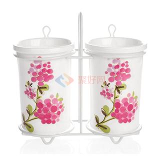 ABS/爱彼此 Cooker库克厨具系列印花陶瓷筷筒