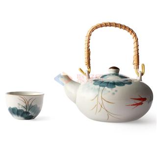 ABS/爱彼此 Lotus荷塘月色系列陶瓷茶具礼盒(5件组)