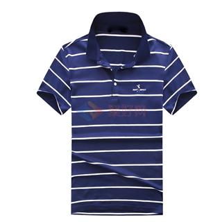 新款夏季男士时尚修身经典翻领中青年男款短袖T恤