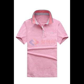 18年春夏经典款年轻爸爸装男士时尚修身纯色小翻领短袖T恤男