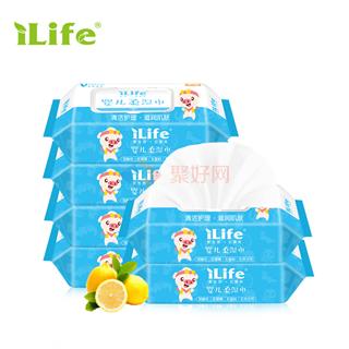 ilife艾莱芙婴儿护肤柔湿巾80抽 24包/箱
