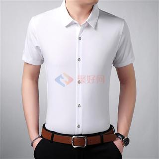 {促销}18年新款男士时尚修身纯色经典小翻领男款衬衫4色可选买一送一