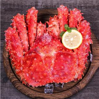 【海鲜上新】下单立减30元 阿拉斯加帝王蟹海鲜鲜活熟冻螃蟹3.6-3.2斤大长脚帝皇蟹水产包邮
