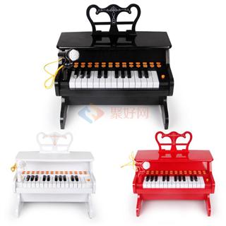 宝丽儿童电子琴带麦克风女孩多功能早教益智音乐钢琴礼物1-3-6岁