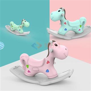 魔童儿童悠哉摇摇马塑料小木马摇马大号加厚1-4周岁礼物宝宝玩具