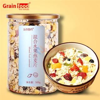 五谷食尚  混合水果麦片  500g罐