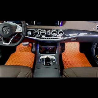 风中氧    负氧离子活性皮汽车通用款脚垫     橘色蝴蝶款