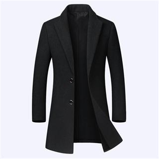【聚好专享】198包邮 40%羊毛男士毛呢大衣 时尚风衣外套