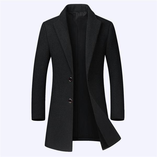 198包邮 40%羊毛男士毛呢大衣 时尚风衣外套