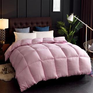 PACA蓝岸家纺 暖芯立体充绒羽丝绒冬被 暖芯粉色 纯色保暖厚被子被芯