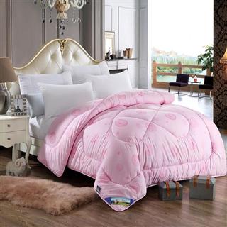PACA蓝岸家纺 100%羊毛被 风尚款粉红色 加厚保暖单人双人羊毛被子水洗羊毛被芯