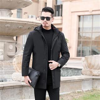 2018冬季新款男士舒适保暖加厚可脱卸内胆商务休闲羽绒服包邮