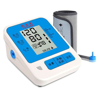 欧宝莱电子血压计上臂式血压计家用语音全自动测量加压血压仪