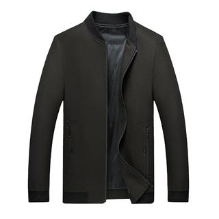 268包邮45%羊毛男士经单款立领时尚男款羊毛呢子夹克外套