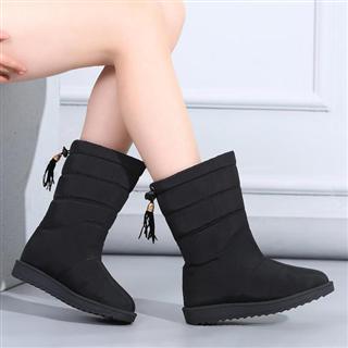 冬季韩版百搭加绒短筒保暖学生棉鞋
