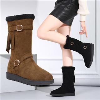 冬季韩版百搭加绒保暖防滑内增高雪地靴