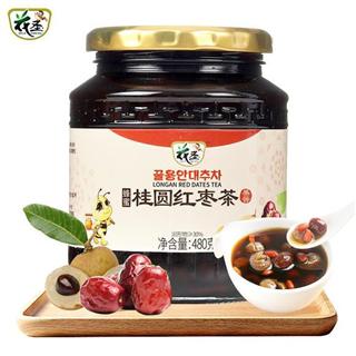 花圣蜂蜜桂圆红枣茶480g水果酱冲调泡水喝的饮品蜂蜜水果茶