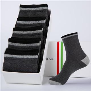 【5双装精梳棉男袜】商务中筒休闲运动吸汗袜