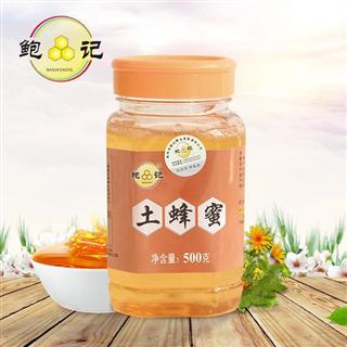 鲍记农家野生天然土蜂蜜蜂巢蜜原蜜500g
