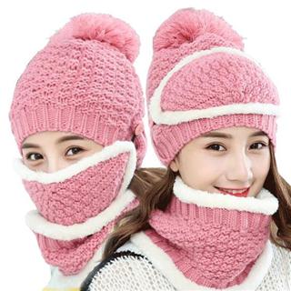 【保暖加厚糖果色甜美可爱针织毛线帽】韩版百搭休闲潮帽