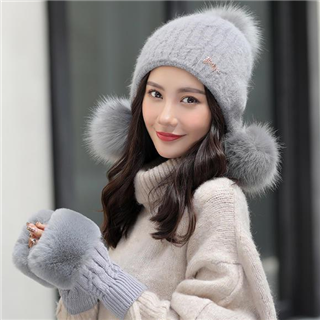 【时尚百搭加厚保暖护耳帽】潮范可爱保暖帽护手罩套装