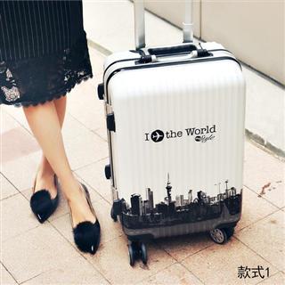 高档铝框缤纷款行李箱22寸