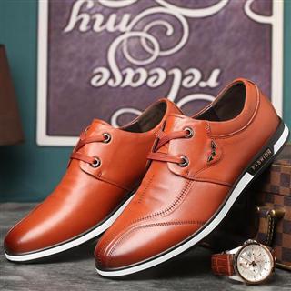 时尚新款系带软底真皮休闲鞋