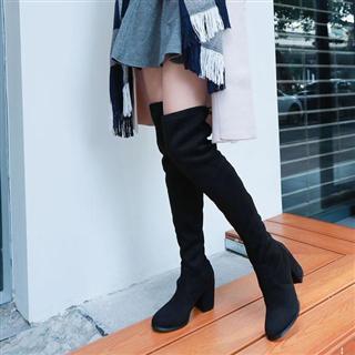 秋冬新款过膝时尚弹力靴(单&绒两种可选)