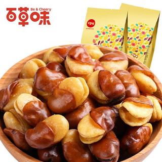 【百草味-盐焗味兰花豆210g*4袋】休闲零食小吃